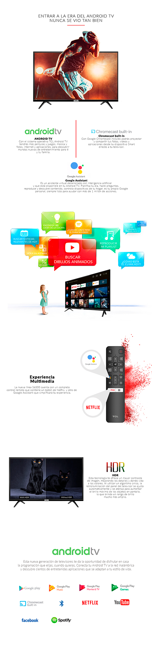 """LED 32"""" TCL 32S6500 HD SMART ANDROID TV"""